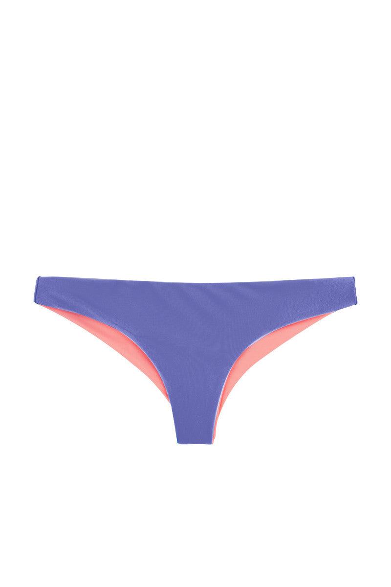WATER GLAMOUR Skinny Jessie Reversible Cheeky Bottom Bikini Bottom | Sadona Blue/Coral|