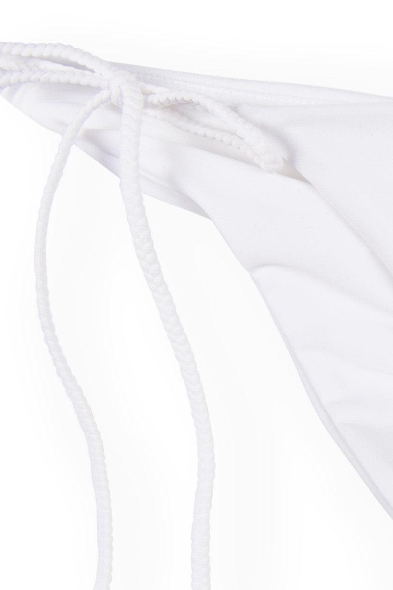 MIA MARCELLE String Bottom Bikini Bottom | White|