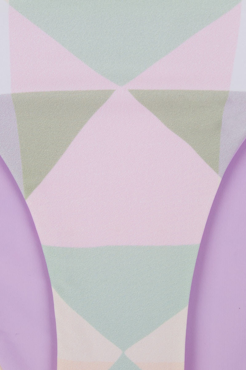 MARA HOFFMAN Diamond Ruched Side Bikini Bottom - Pastel Pink Bikini Bottom | Pastel Pink|