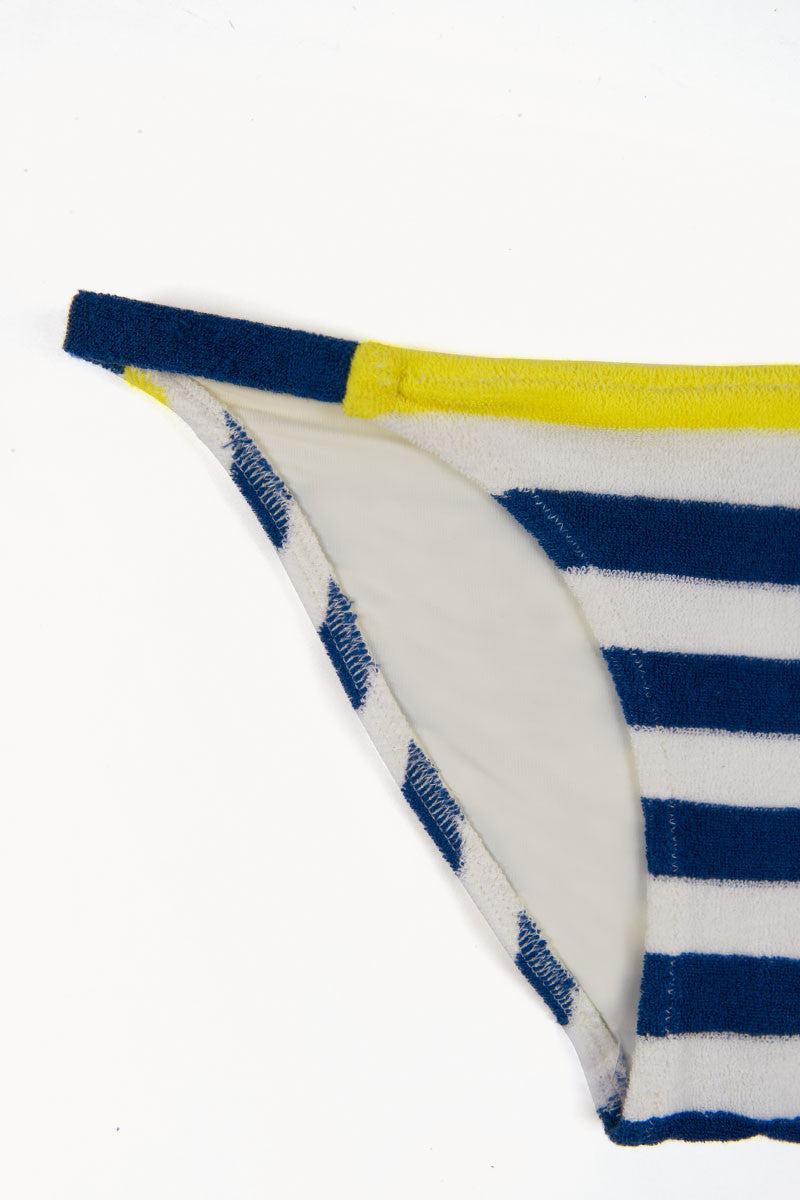 SOLID & STRIPED The Morgan Terrycloth Bikini Bottom - Blue & Cream Stripe Bikini Bottom | Blue & Cream Stripe| Solid & Striped Morgan Bikini Bottom