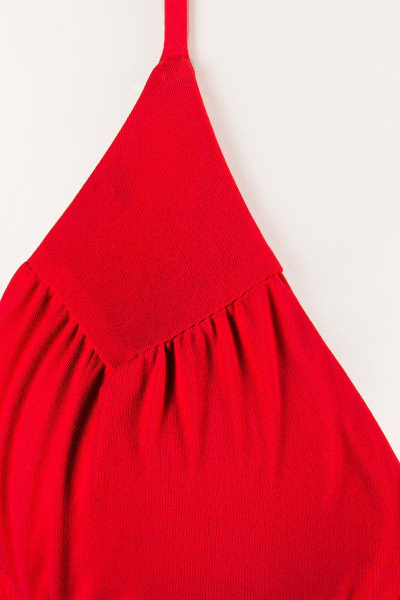 BOYS + ARROWS Millie The Misdemeanor Top Bikini Top | Cardinal