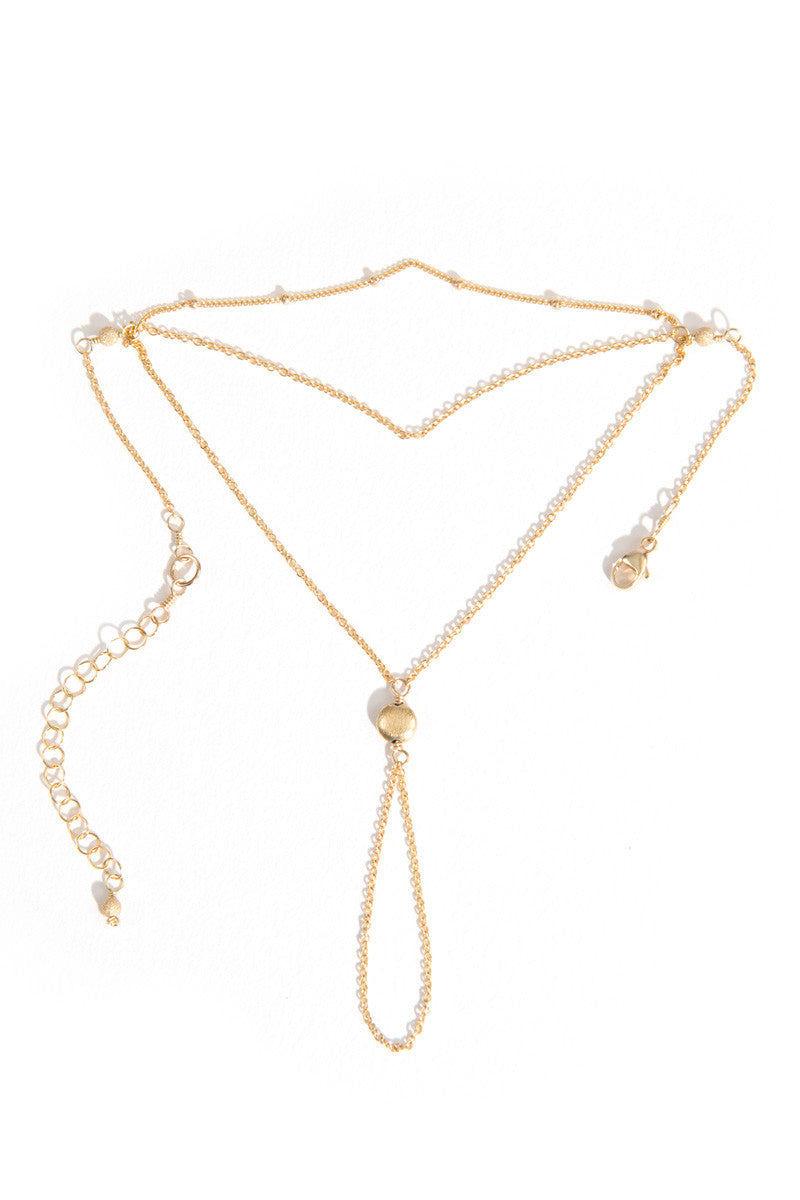 MAILEE Satellite Hand Chain Jewelry | Gold|