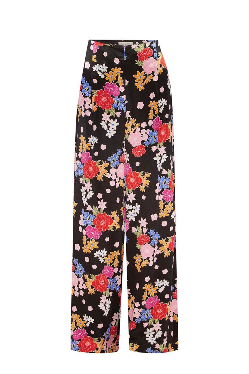 BEC & BRIDGE Cha Cha Pant - Bouquet Print Pants | Bouquet Print| Bec & Bridge Cha Cha Pant - Bouquet Print. Features:  high waist fit floor length hem palazzo style fit zipper and hook opening at center front for entry 100% Shine viscose Made in Australia Front View