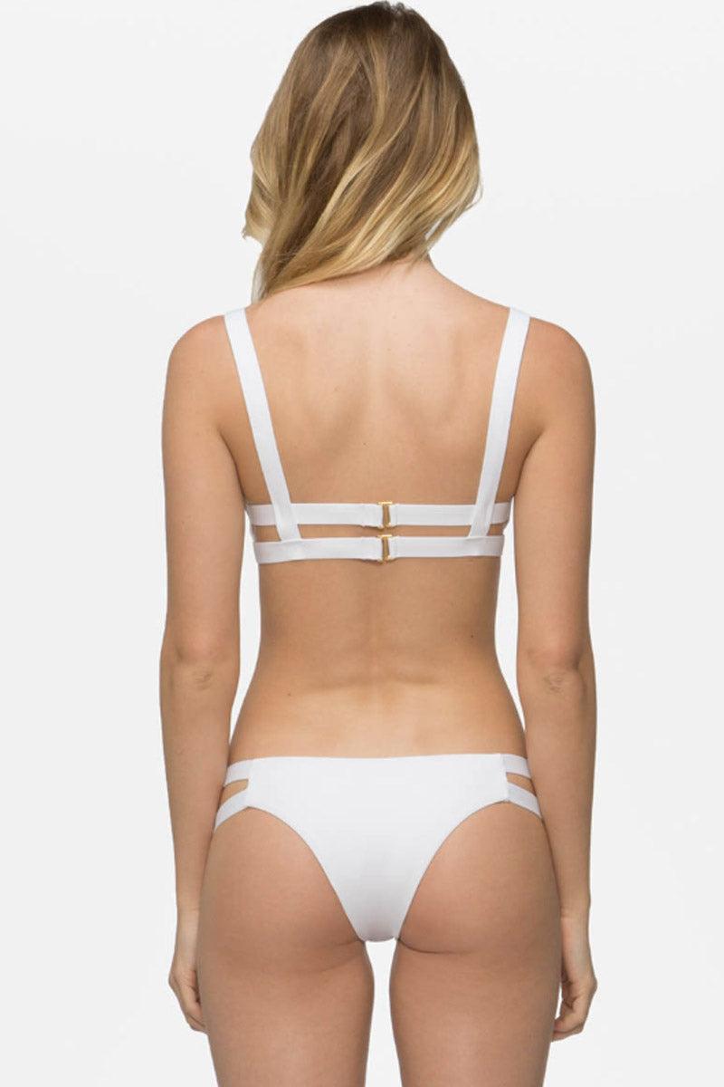 TAVIK Chloe Bikini Bottom - White Bikini Bottom | White|Chloe Bikini Bottom - Features:  Minimal Coverage Hand wash cold Elastic stretch fit Side cut-outs Double side bands