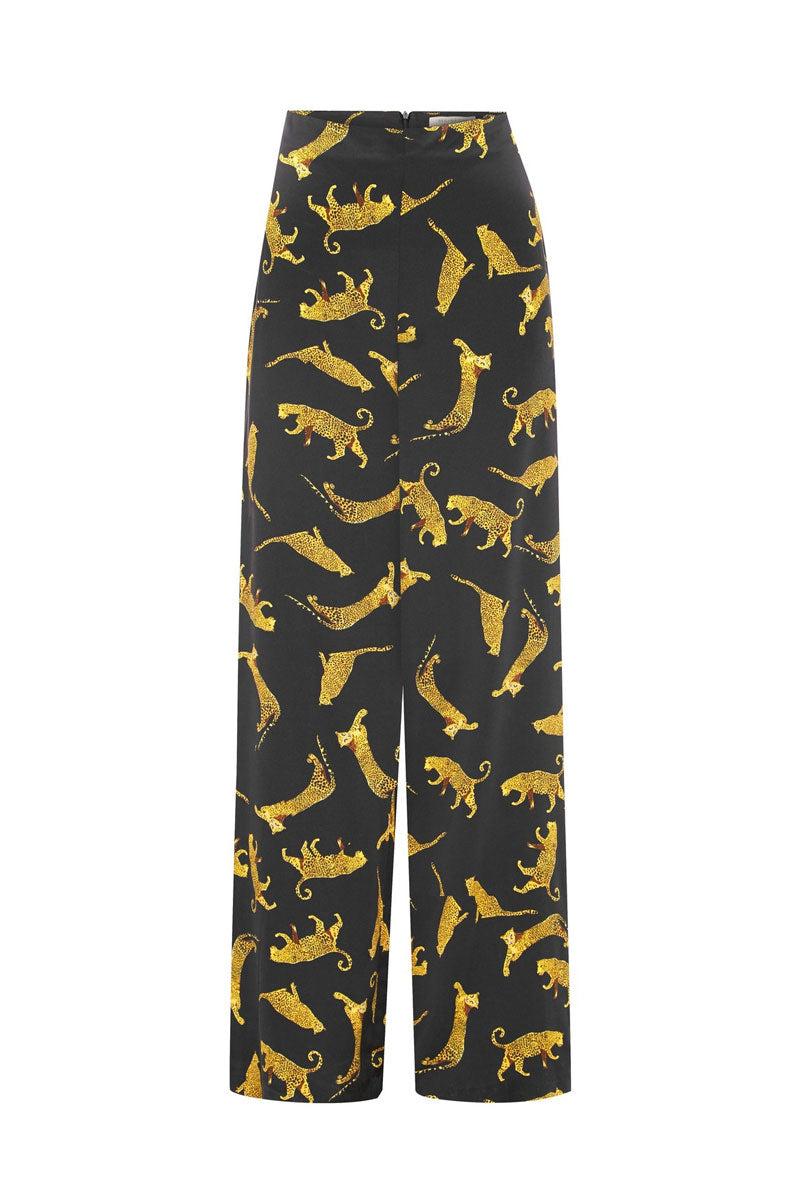 BEC & BRIDGE Conga High Waist Pants - Cheetah Print Pants | Cheetah Print| Bec & Bridge Conga High Waist Pant - Cheetah Print. Features:  High waisted pants Full length Back zipper for easy closure 100% Printed silk charmeuse Made in Australia Front View