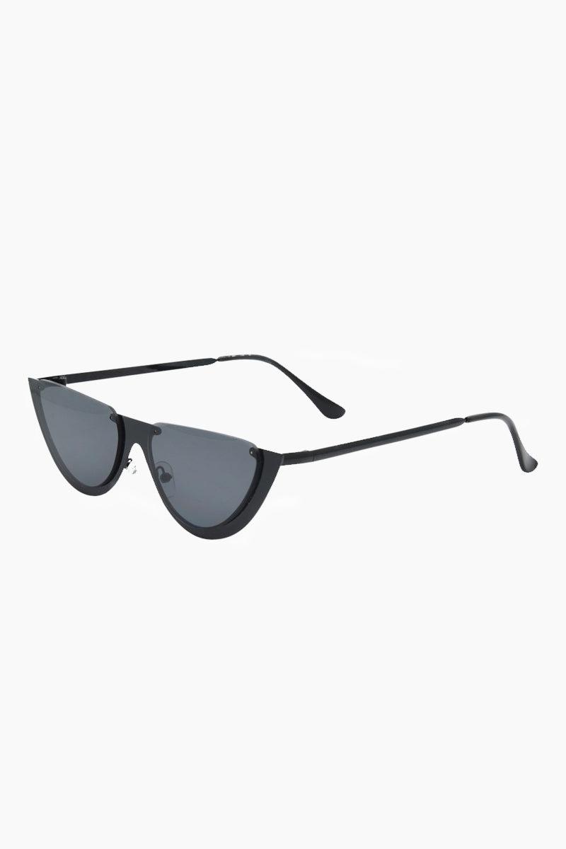 I-SEA Day Dream Sunglasses - Black Sunglasses   Black  I-Sea Day Dream Sunglasses - Black Half Cut Sunglasses Frame Color: Black Lens Color: Smoke   100% UV / UVB Protection Side View