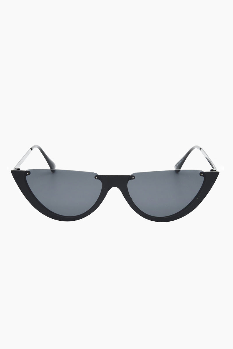 I-SEA Day Dream Sunglasses - Black Sunglasses   Black  I-Sea Day Dream Sunglasses - Black Half Cut Sunglasses Frame Color: Black Lens Color: Smoke   100% UV / UVB Protection Front View
