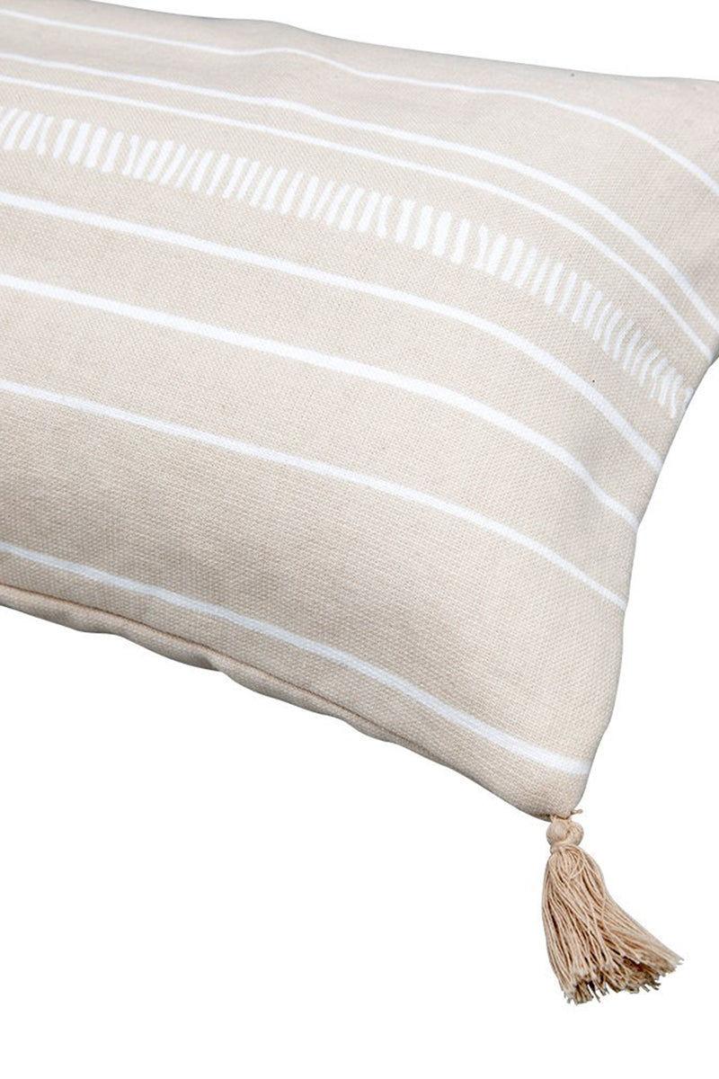 THE BEACH PEOPLE Dune Beach Cushion - Stripe Print Pillow | Stripe Print| The Beach People Dune Beach Cushion - Stripe Print