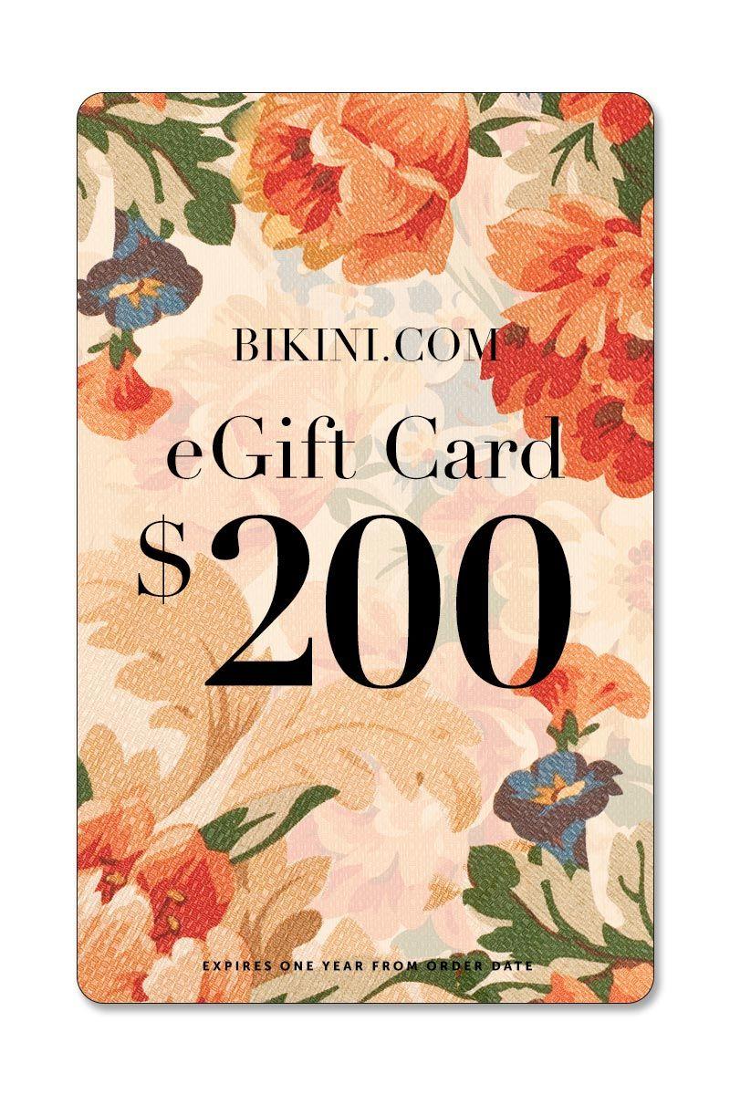 BIKINI.COM $200 eGift Card Gift Card | 200