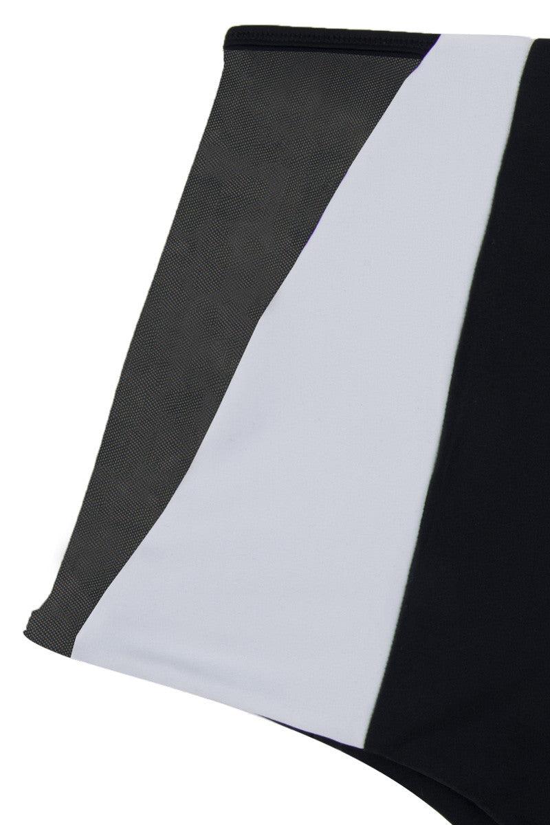 ISSA DE' MAR Harper High-Waisted Reversible Bikini Bottom - Black/Black & White Bikini Bottom | Black/Black & White| Issa De' Mar Reversible Harper Bikini Bottom