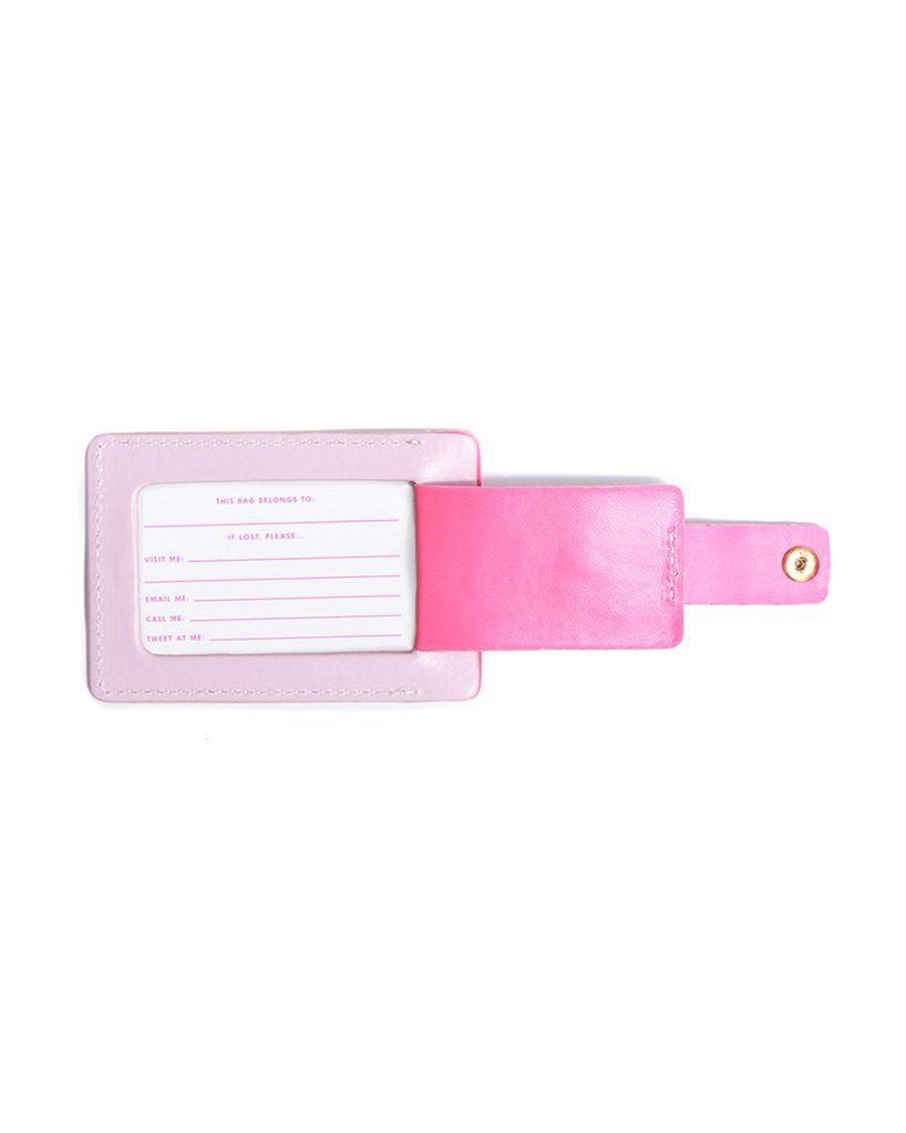 BAN.DO I'm Outta' Here Getaway Luggage Tag Accessories | Light Pink| Ban.do I'm Outta' Here Getaway Luggage Tag