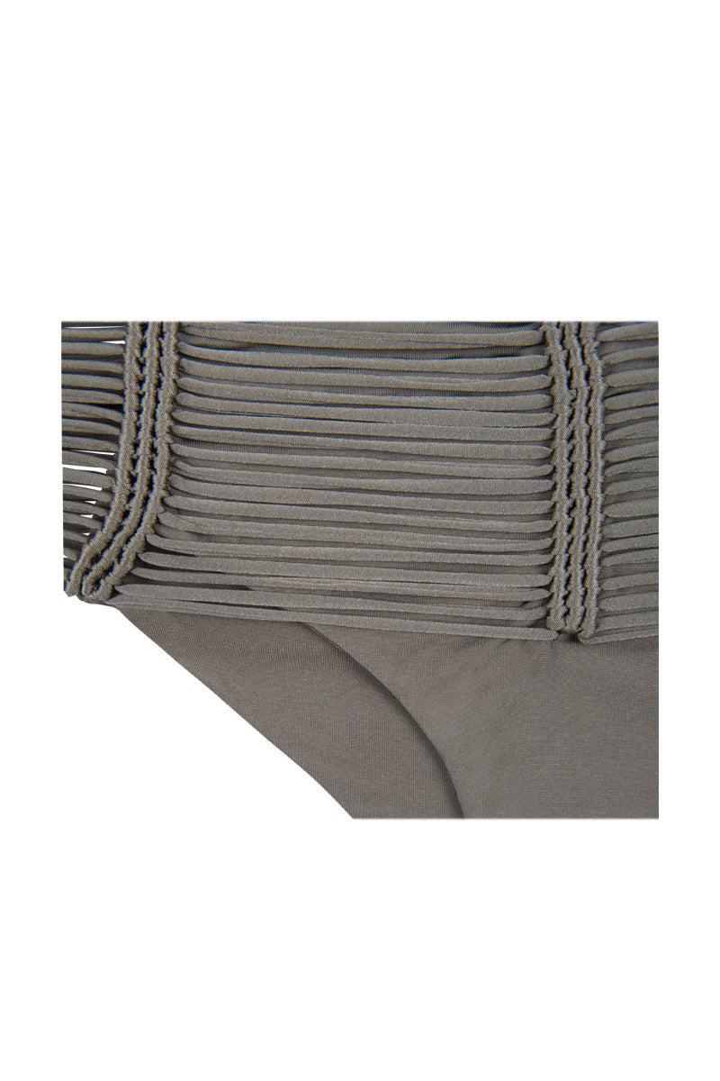 INDAH Fallen Macrame Bottom - Taupe Bikini Bottom | Taupe| Indah Fallen Macrame Bottom