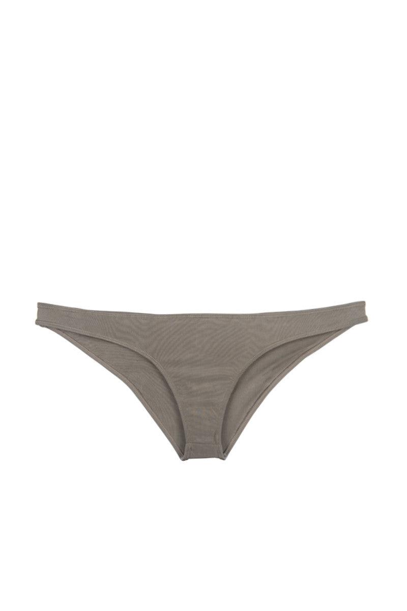 INDAH Vic Cheeky Bikini Bottom - Taupe Brown Bikini Bottom | Taupe Brown | Indah Vic Cheeky Bikini Bottom - Taupe Brown  Classic, pull-on design Cheeky coverage Front View