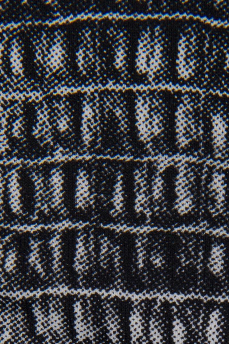 INDAH Chaplin Moderate Bikini Bottom - Black Crocodile Print Bikini Bottom | Black Crocodile Print| Indah Chaplin Moderate Bikini Bottom - Black Crocodile Print Moderate coverage  Detailed crocodile skin  80% Polyamide, 20% Elastane Front View