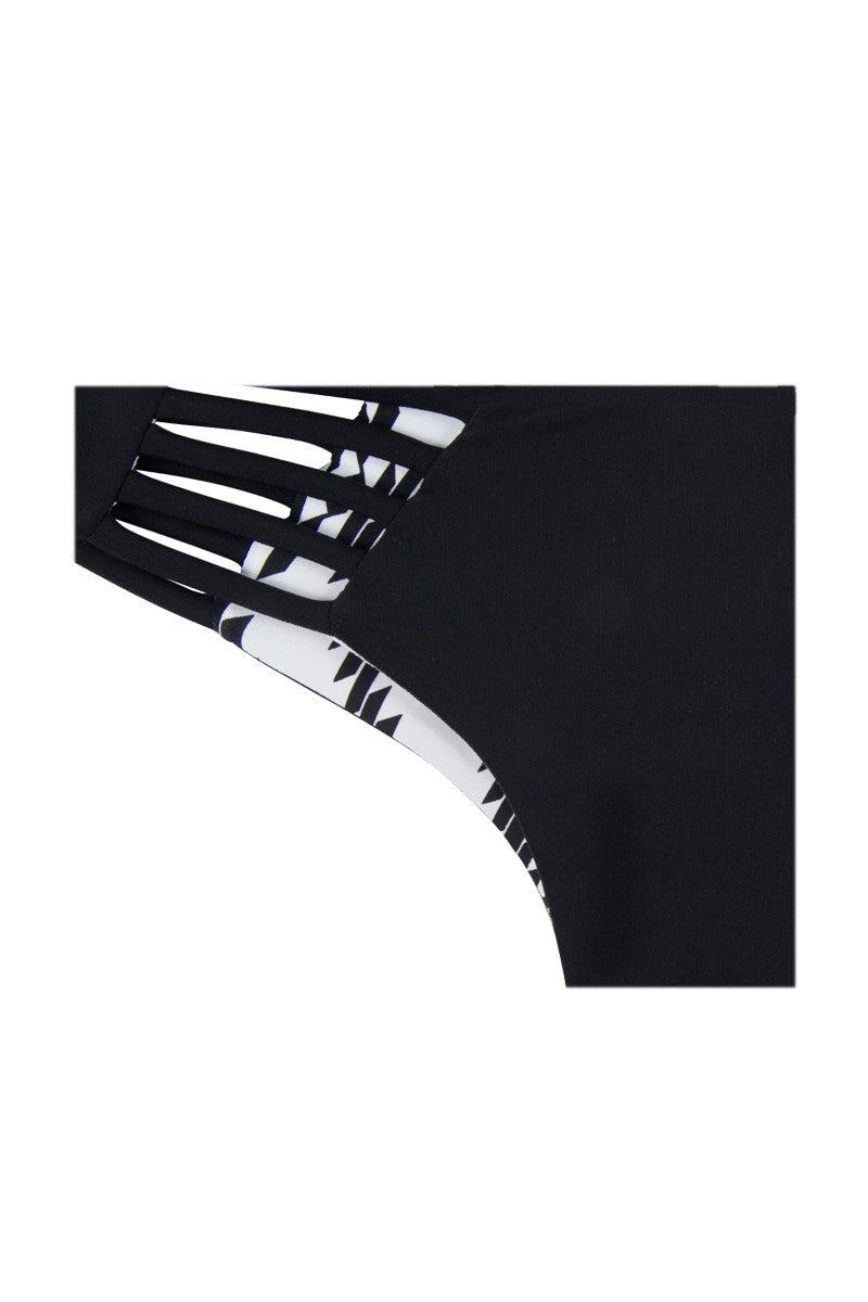 KHONGBOON Indre Reversible Bottom Bikini Bottom | Black and White/Black|