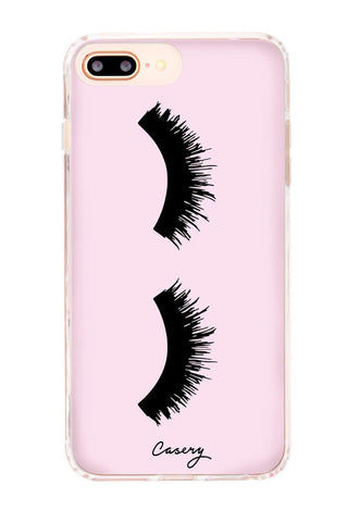 CASERY Lashes iPhone 6s/7/8 Plus Phone Accessories | Pink | Casery Lashes iPhone 6s/7/8 Plus. Features:  Matte-finished Military grade drop-test  Slim Fit Retail Packaging Designed in Los Angeles, California Front View