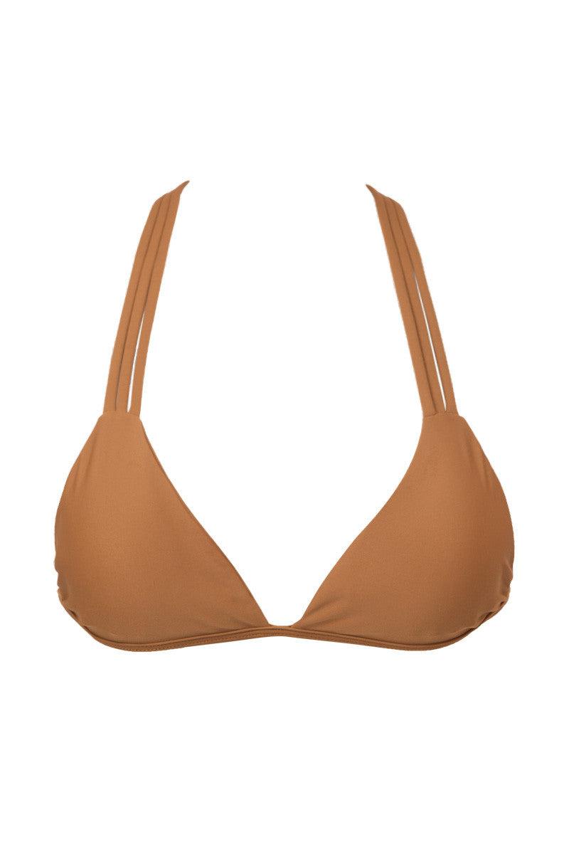 ISSA DE' MAR Poema T-Back Triangle Bikini Top - Tan Bikini Top | Tan| Issa De' Mar Poema Bikini Top