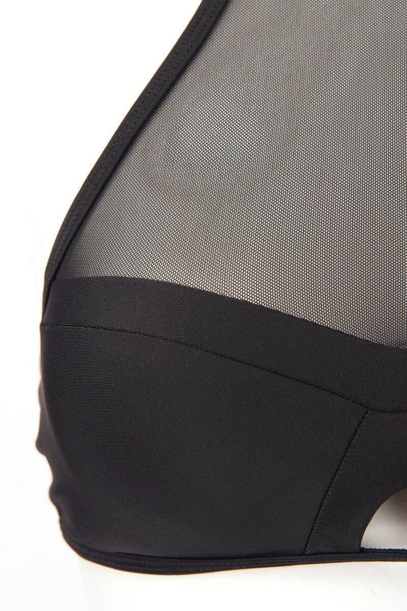ISSA DE' MAR Harper High Neck Bikini Top - Black Bikini Top | Black| Issa De' Mar Harper Bikini Top