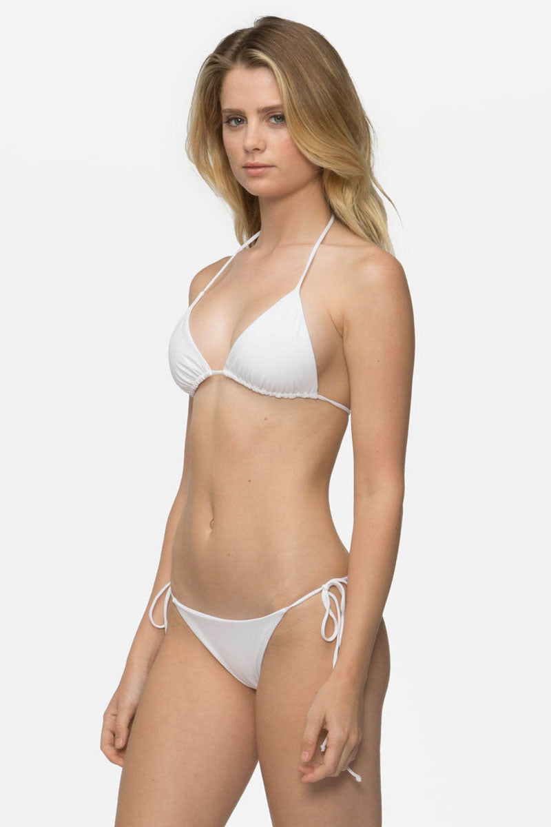 TAVIK Jax Bikini Bottom - White Bikini Bottom | White|Jax Bikini Bottom - Features:  Moderate Coverage Adjustable side ties Cheeky coverage Ribbed Low rise
