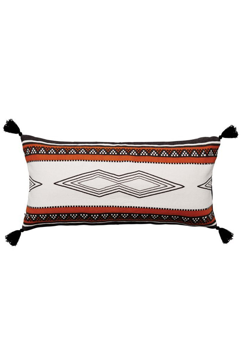 THE BEACH PEOPLE Kilim Beach Cushion Pillow | The Beach People Kilim Beach Cushion Front View 100% cotton beach cushion Inflatable insert for comfortable lounging Size before inflated is 510mm x 260mm Designed in Australia