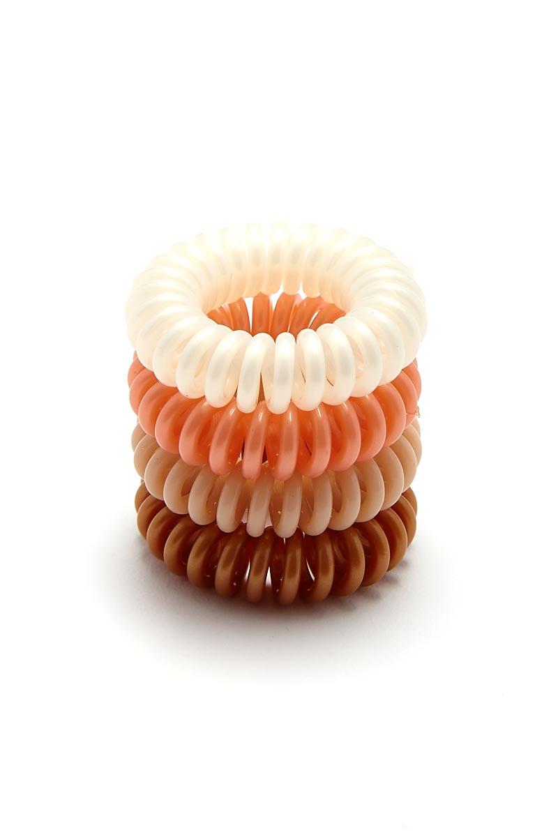 KITSCH Rose 4pk Hair Coils Hair Accessories | Rose 4pk Hair Coils
