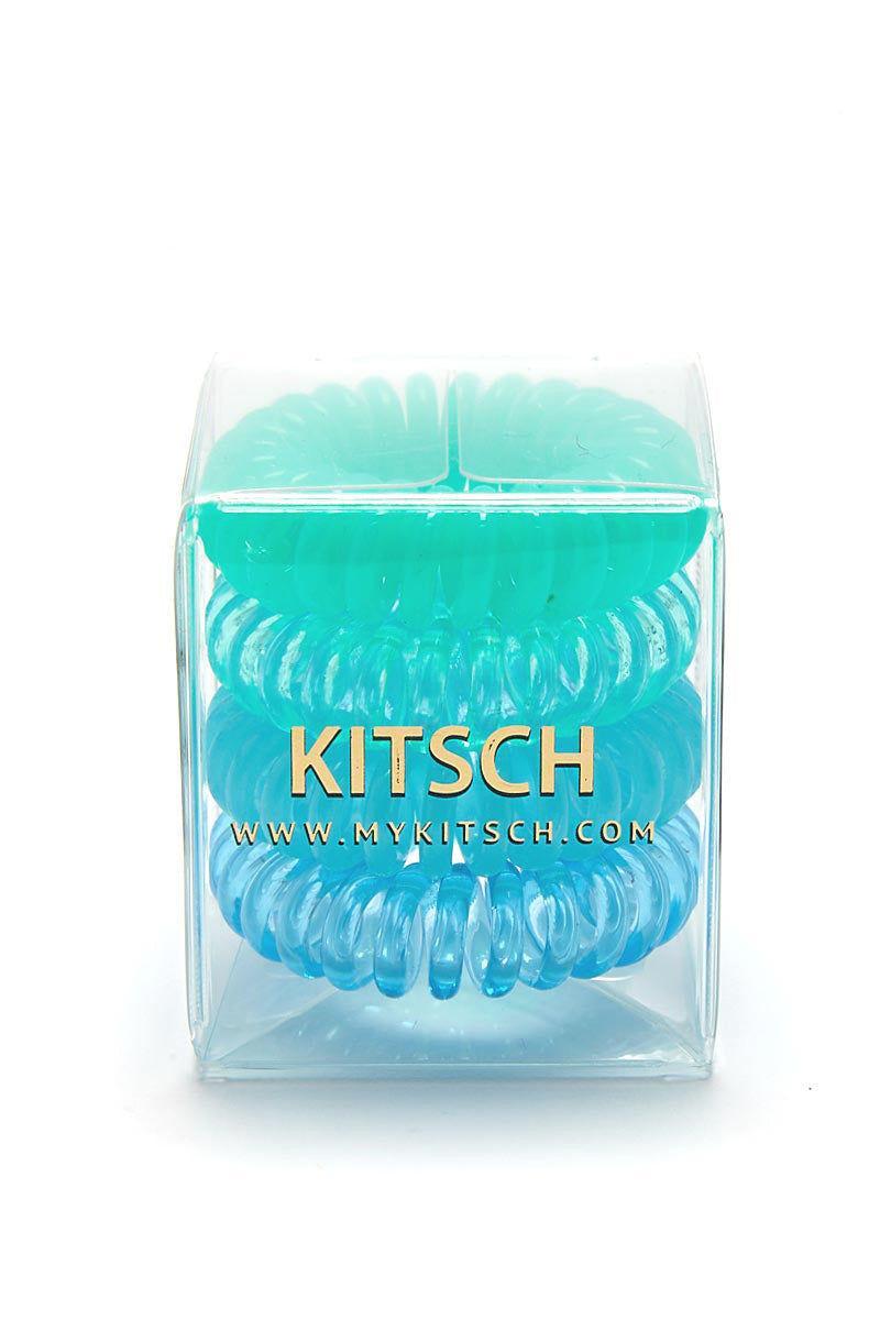 KITSCH Sea Vibe 4pk Hair Coils Hair Accessories | Sea Vibe 4pk Hair Coils