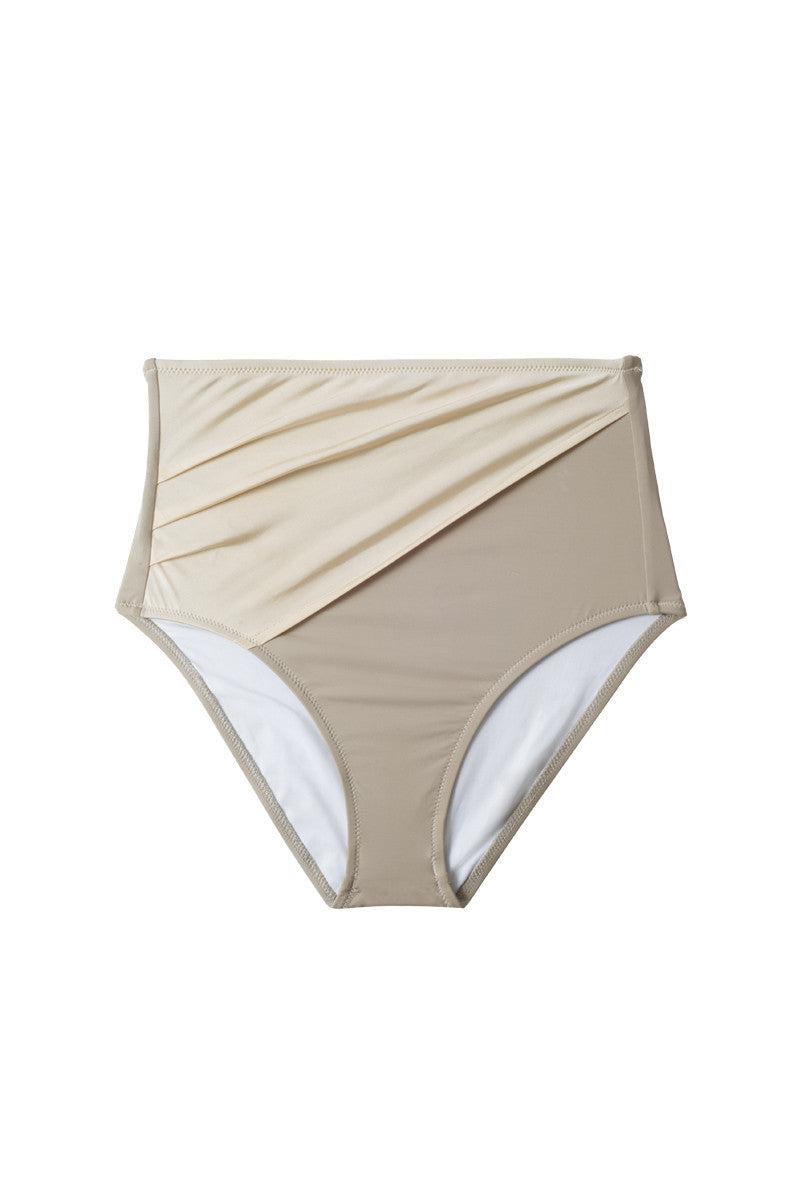 KORE Alexa High Waisted Bikini Bottom - French Vanilla Bikini Bottom   French Vanilla  Kore Alexa High Waisted Bikini Bottom - French Vanilla Swatch Front View