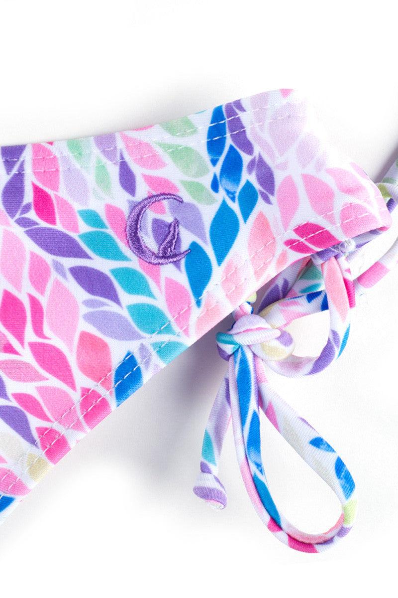 KOVEY Printed Gulf Tie Side Bikini Bottom - Mimosa Petals Bikini Bottom | Mimosa Petals|
