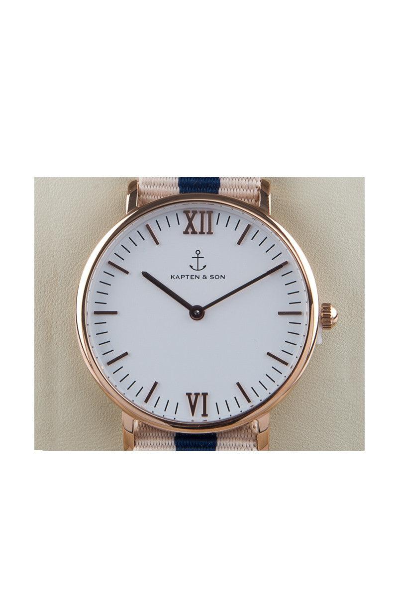 KAPTEN AND SON Roadtrip Watch Accessories | Blue/White| Kapten & Son Roadtrip Campina Watch