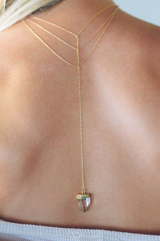 LOVE ME KNOTS Tantalus Tri Drop Necklace Jewelry | Gold|