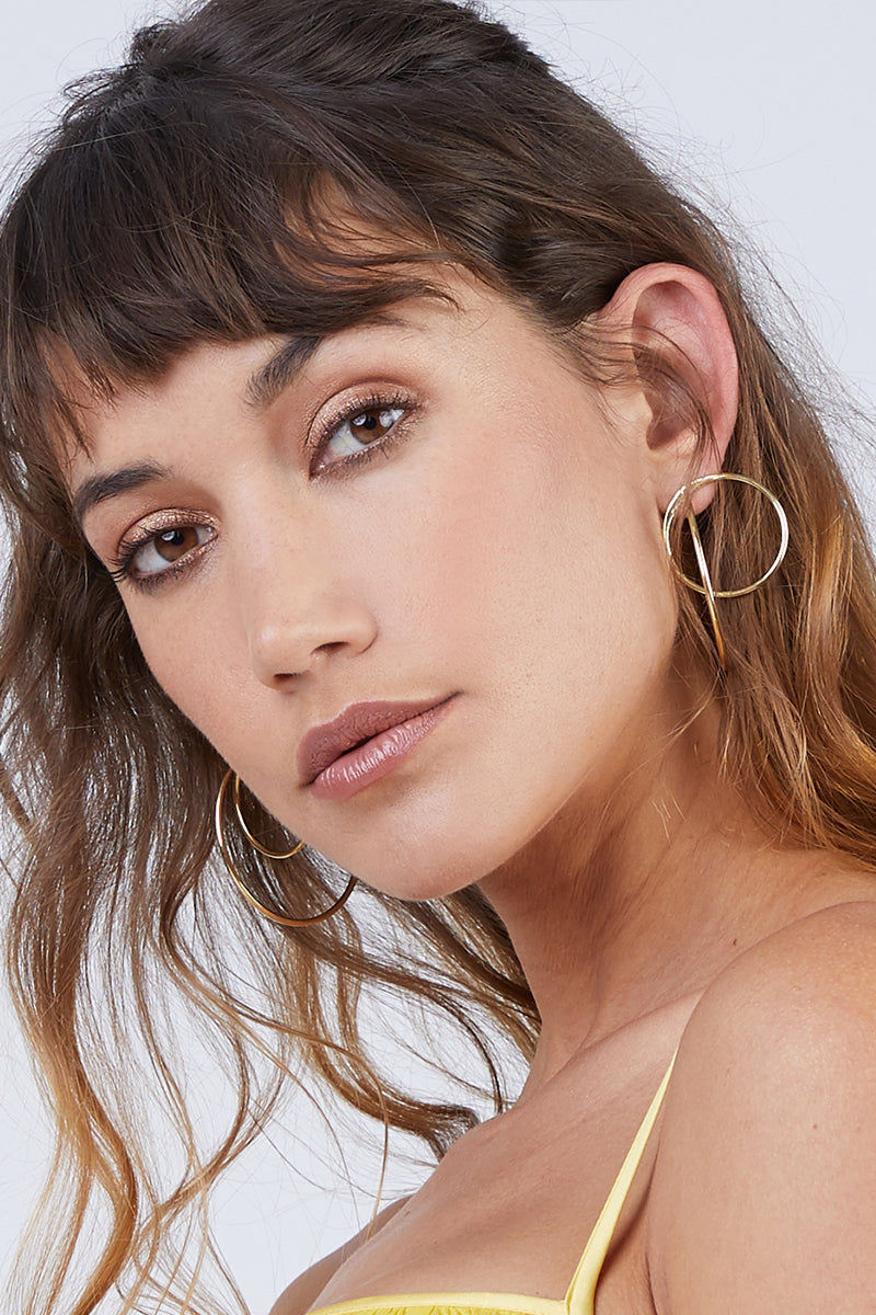 SOKO JEWELRY Maxi Globe Jackets Earrings - Brass Jewelry | Brass|