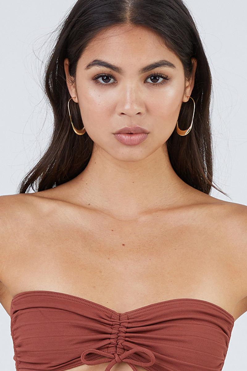 SOKO JEWELRY Mezi Large Hoop Earrings - Brass Jewelry | Brass|