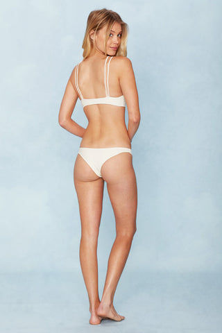 MIKOH Kapa'a Strappy Bandeau Bikini Top - Bone White Bikini Top | Bone White | Mikoh Kapa'a Strappy Bandeau Bikini Top - Bone White . Features: Strappy bandeau style bikini top. Multi-strap design at the front frames your collarbones for an ultra flattering look. Back View