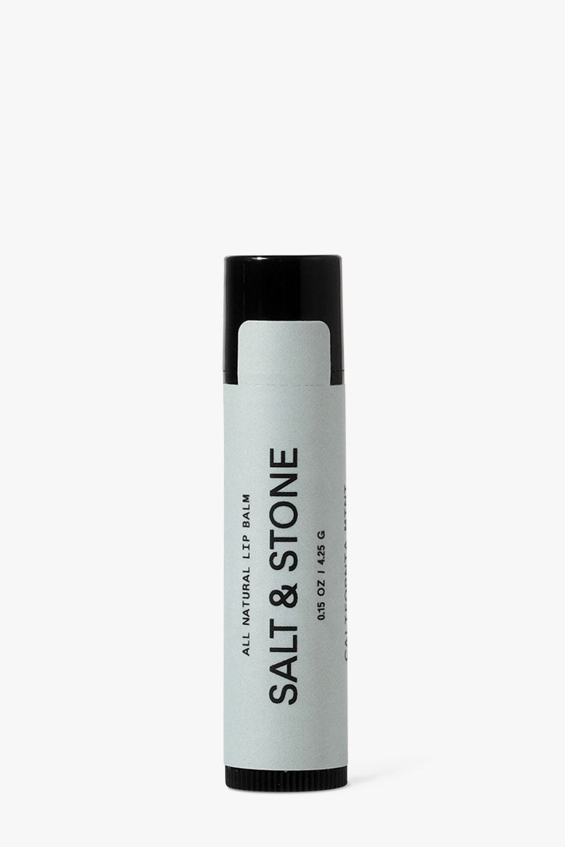 SALT & STONE California Mint Lip Balm Beauty | | Salt & Stone California Mint Lip Balm An all natural, organic, hydrating lip balm Leaves lips feeling soft and protected with a matte finish Front View