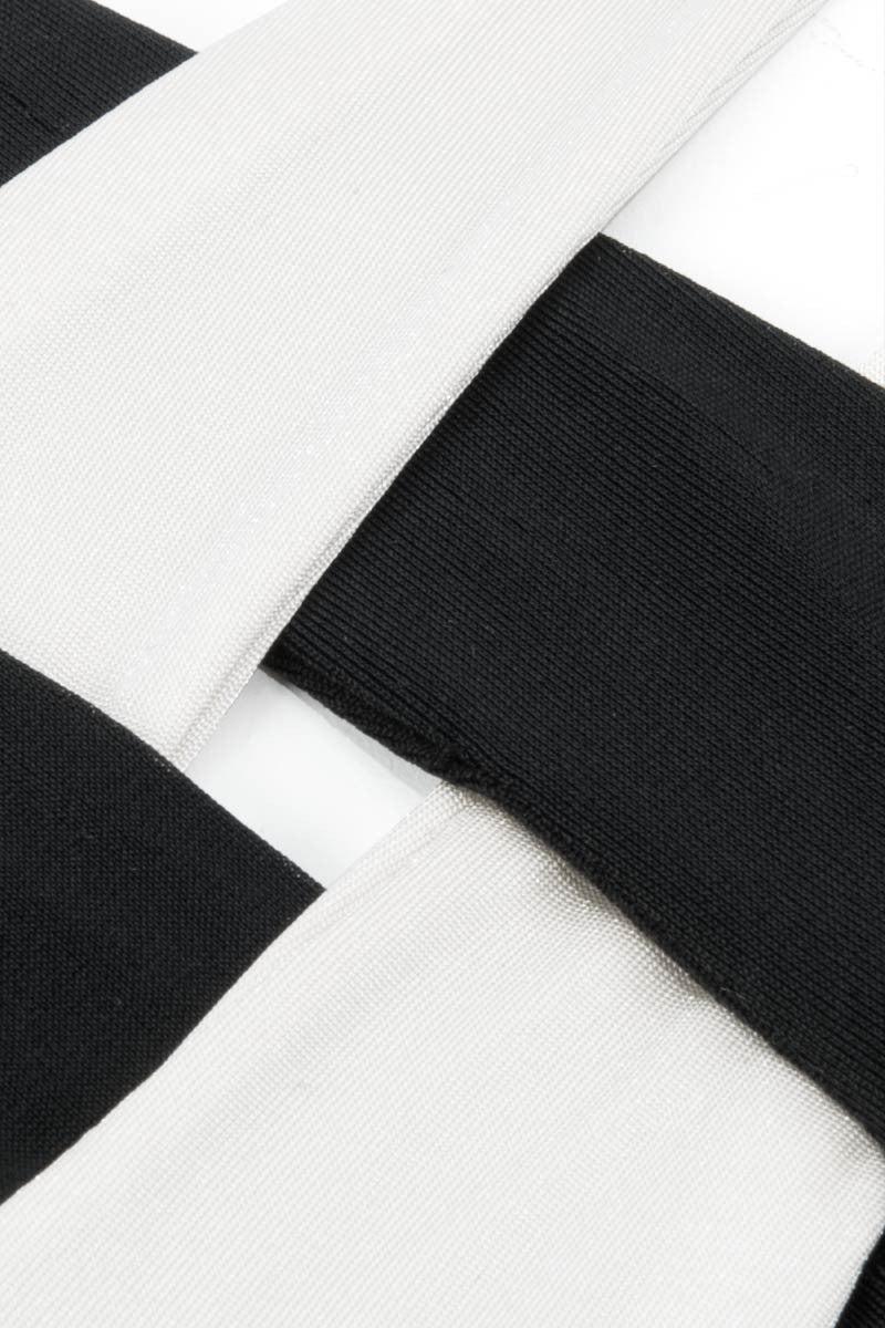 MOEVA Celia Top - Black/White Bikini Top | Black/White|Moeva Celia Bikini Top