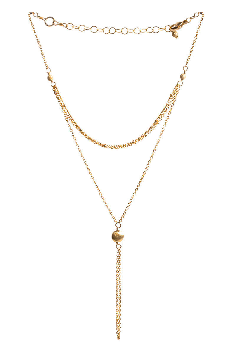 MAILEE Satellite Hand Chain - Gold Jewelry | Gold|