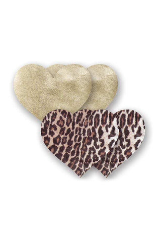 BRISTOLS SIX Domenico Heart Accessories | Leopard/Gold| Bristols Six Domenico Heart