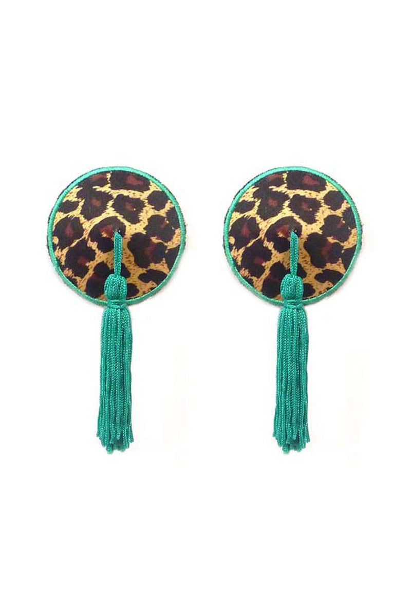 BRISTOLS SIX Gold Couture Josephine Silk Tassels - Leopard Accessories | Leopard| Nippies  Gold Couture Josephine Silk Tassels - Leopard Out of the Box View