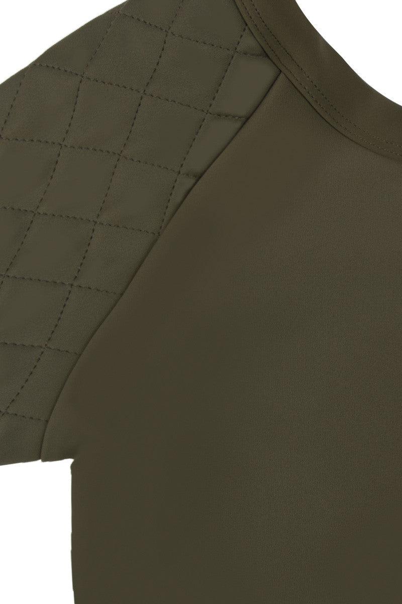 ZIGILANE Soldier Boy Crop Top Bikini Top | Olive Green|
