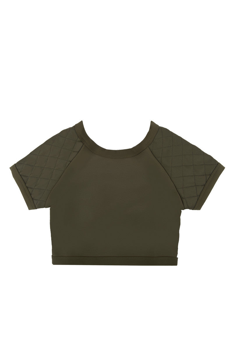 ZIGILANE Soldier Boy Crop Top Bikini Top | Olive Green| Zigilane Soldier Boy Crop Top
