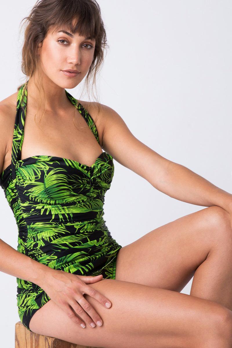 NORMA KAMALI Bill Mio One Piece Swimsuit - Palm Leaf One Piece | Palm Leaf|