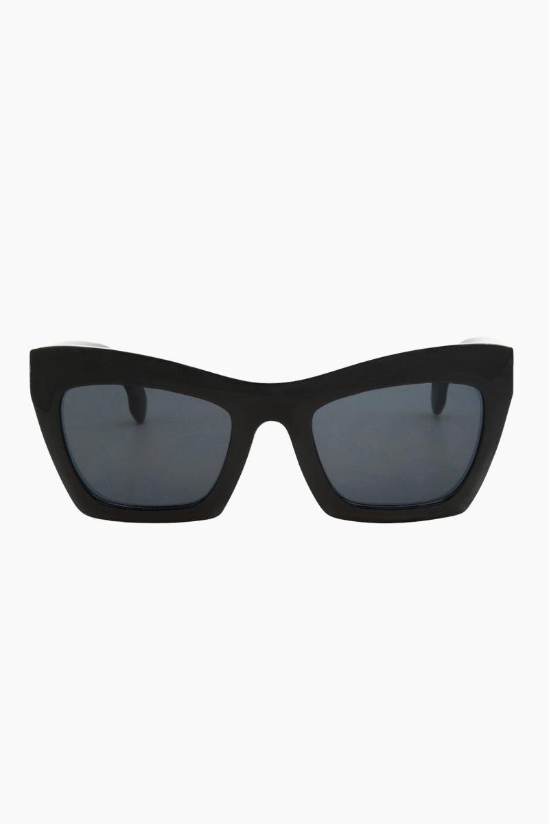 I-SEA Oasis Sunglasses - Black Sunglasses | Black| I-Sea Oasis Sunglasses - Black Oversized Thick Frames Sunglasses Frame Color: Black Lens Color: Smoke 100% UV / UVB Protection Front View