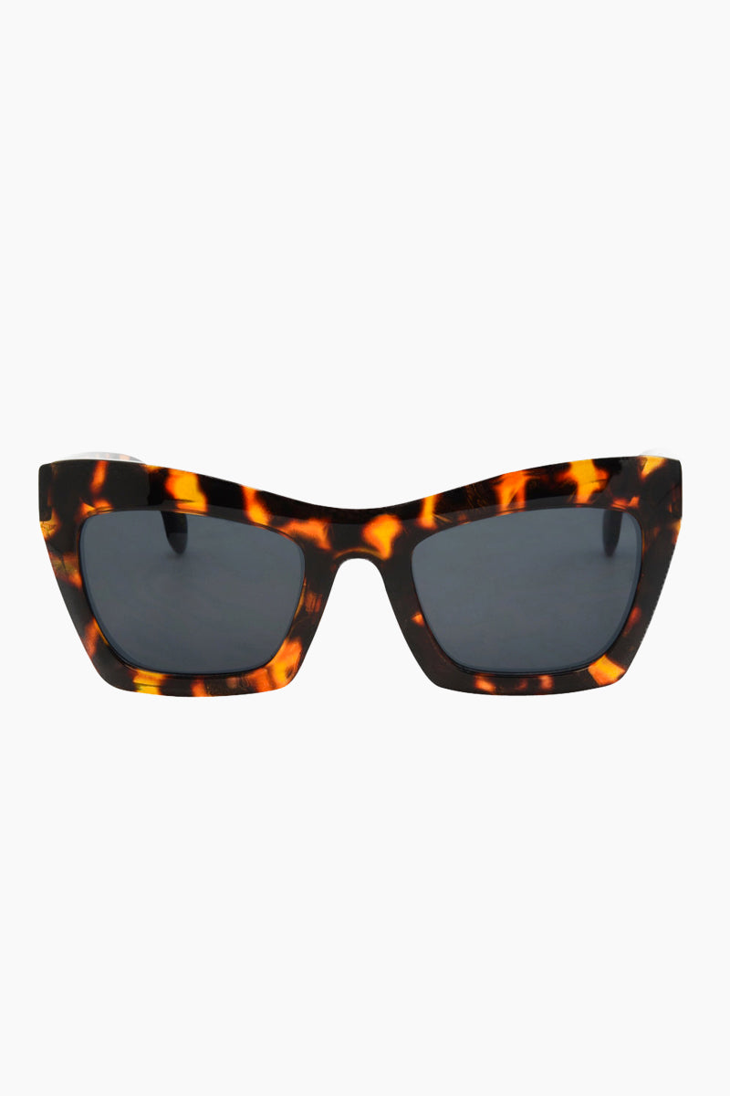 I-SEA Oasis Sunglasses - Tortoise Sunglasses | Tortoise| I-Sea Oasis Sunglasses - Tortoise Oversized Thick Frames Sunglasses Frame Color: Tortoise Lens Color: Smoke 100% UV / UVB Protection Front View