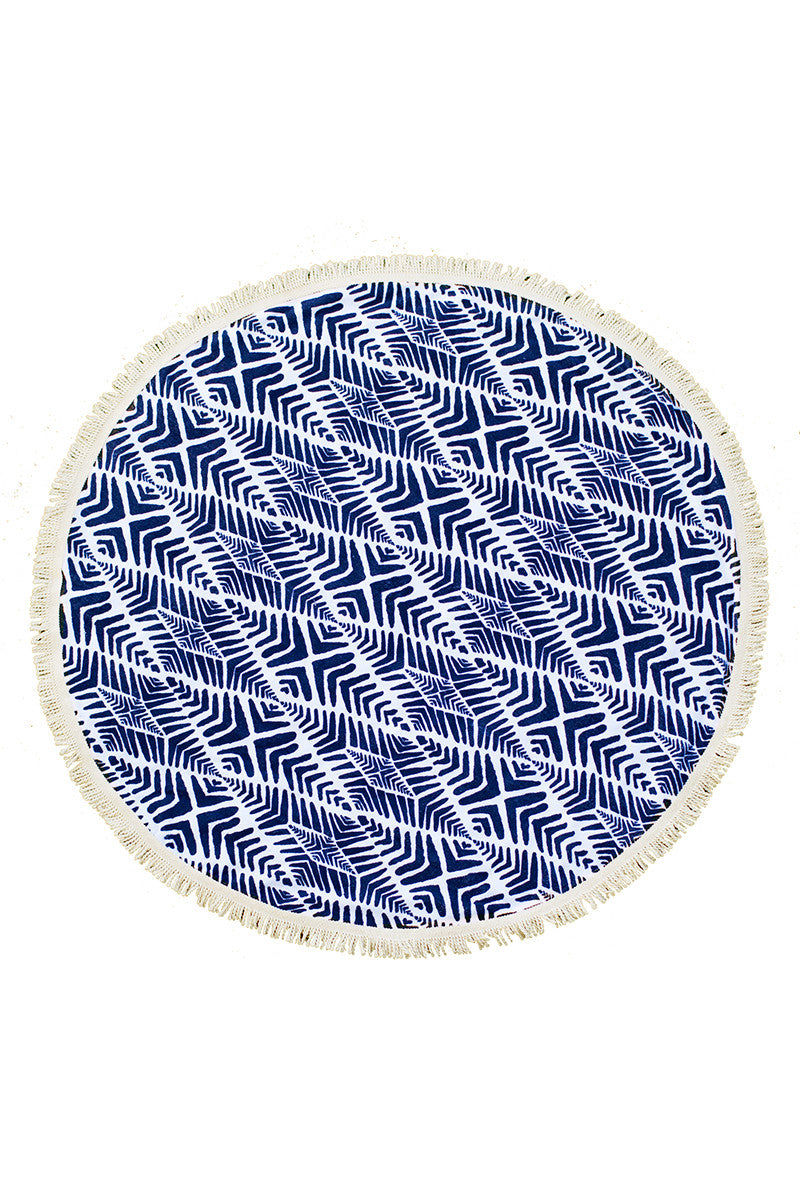 THE BEACH PEOPLE Paradis Round Towel Towel | Paradis|