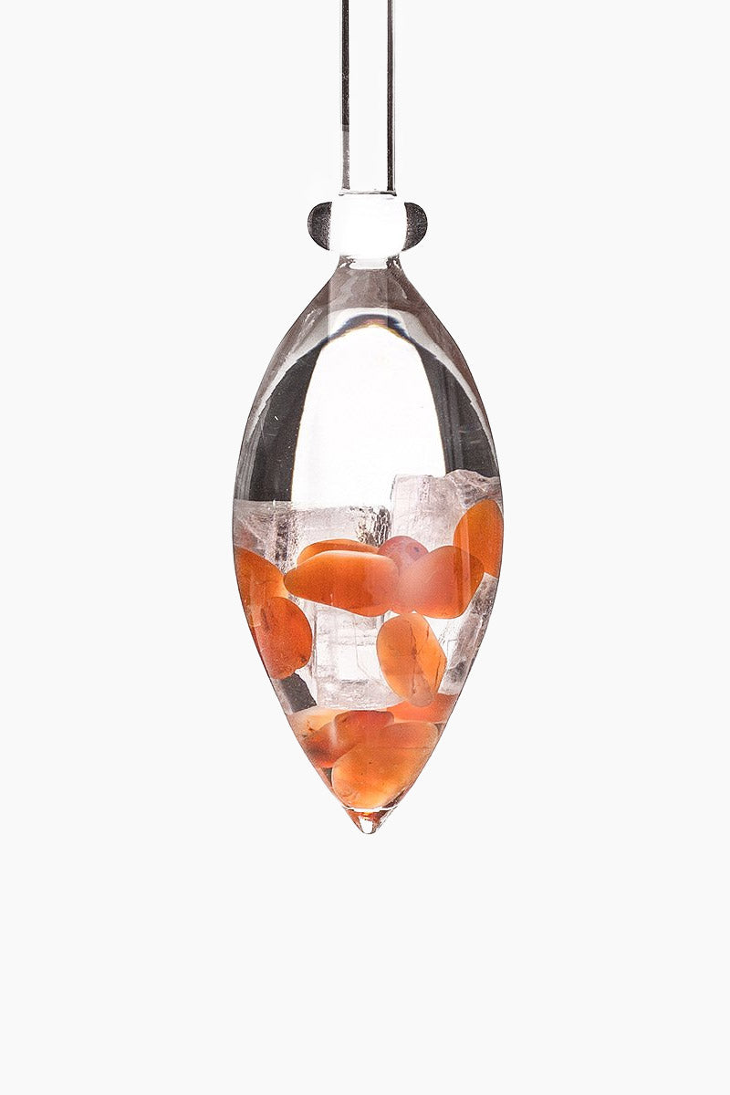 GEM-WATER Passion Gemstone Vials - Carnelian/Halite Salt Accessories | Carnelian/Halite Salt| Gem-Water Passion Gemstone Vials - Carnelian/Halite Salt Crystal Edition Gemstone Vial contains Carnelian and Halite Salt to help with treat lower back problems, improve your body's mineral absorption, and increase overall health and well being. Vial View