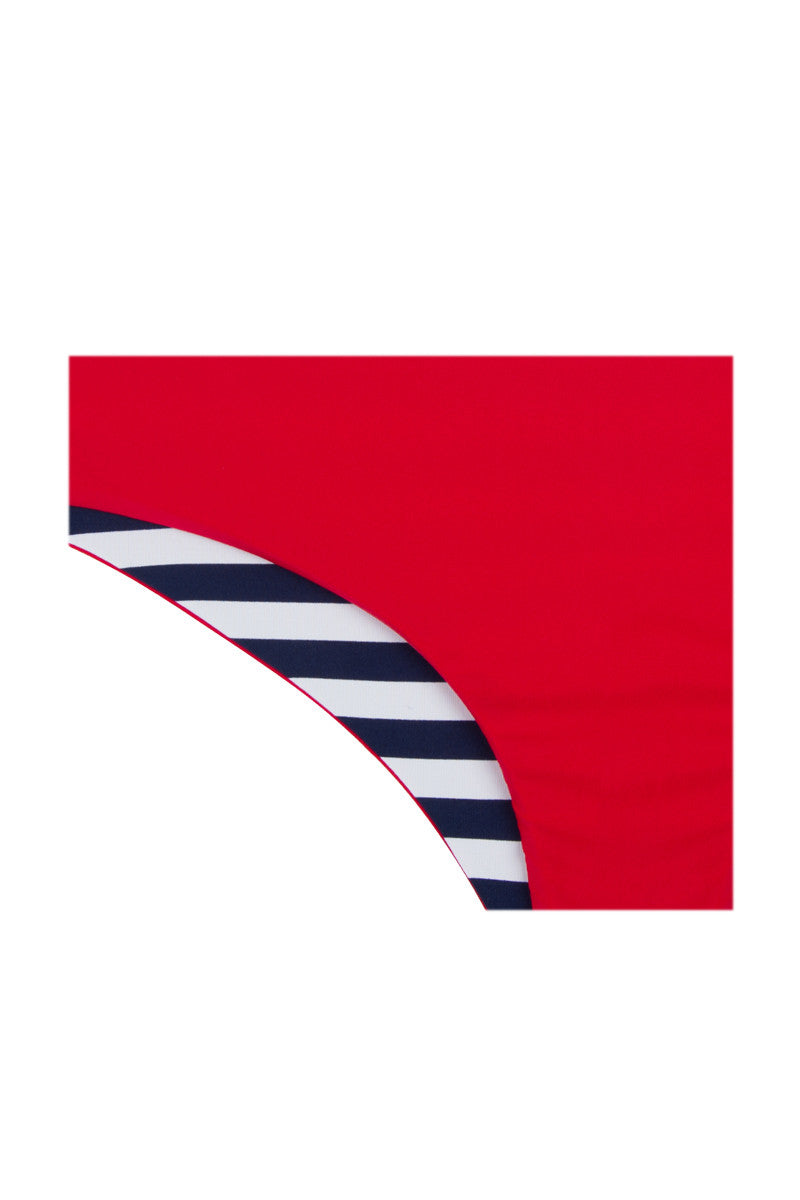 KHONGBOON Prato Reversible Bottom Bikini Bottom | Blue and White/Red