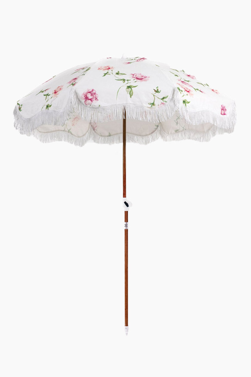 """BUSINESS AND PLEASURE CO Holiday Beach Umbrella - English Rose Pool Accessories 