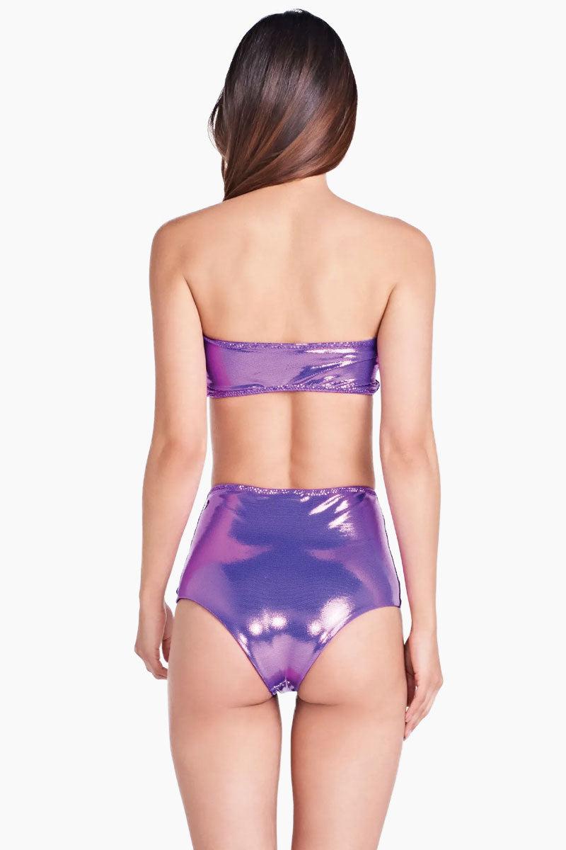 a06750612c TRIYA Hot Pant Metallic High Waist Bikini Bottom - Rouxinol Purple Bikini  Bottom | Rouxinol Purple ...