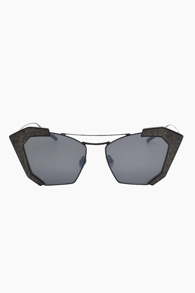 I-SEA Salty Arrow Sunglasses - Black Sunglasses | Black| I-Sea Salty Arrow Sunglasses - Black Cat-Eyed Under Cut Sunglasses Frame Color: Black Lens Color: Smoke   100% UV / UVB Protection Front View