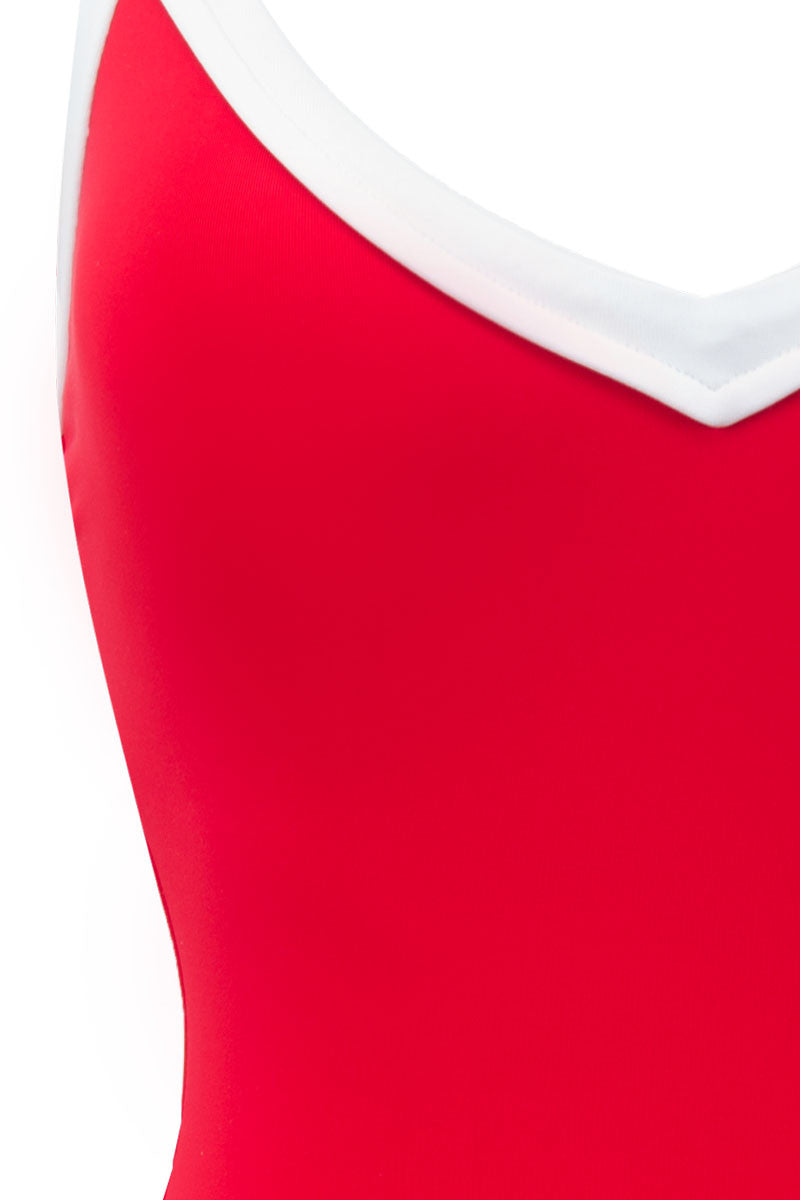 SEAFOLLY Sweetheart V Neck One Piece Swimsuit - Chilli Red One Piece | Chilli Red|